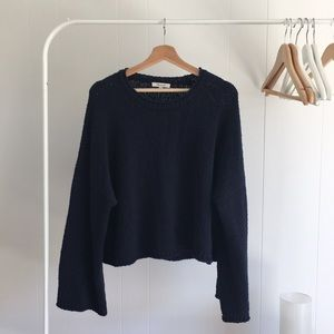 Navy bell sleeve Madewell sweater